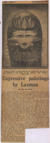 pressclipping/1970s/Laxman Pai Expressive paintings by laxman,nov.jpg