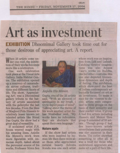 pressclipping/2000s/Dhoomimal Gallery Art as investment,2006,nov.jpg