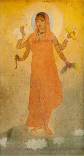 Image result for Bharat Mata, Abnindrnath Tagore, 1905